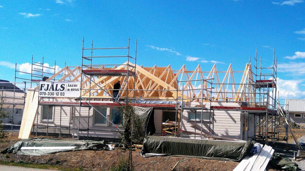 Nyproduktion av villa på Sånghusvallen