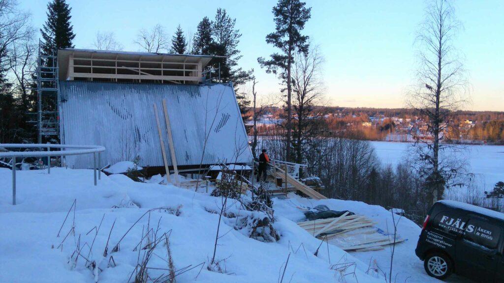Tillbyggnad på berget, Södra Söre, Lit - Östra sidan vinter