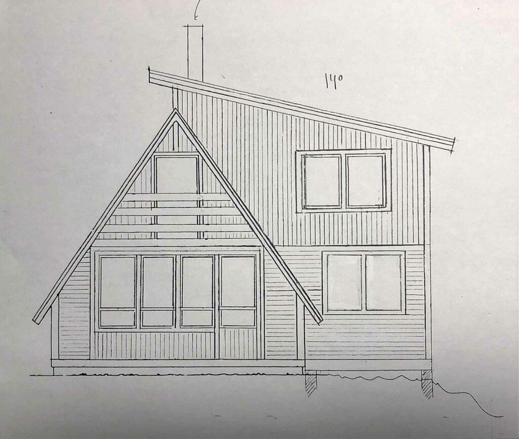 Fasadritning tillbyggnad Kastalstugan