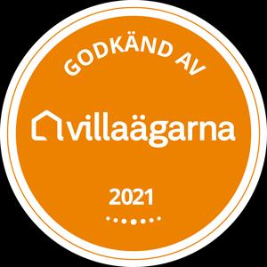 Godkänd av Villaägarna 2021